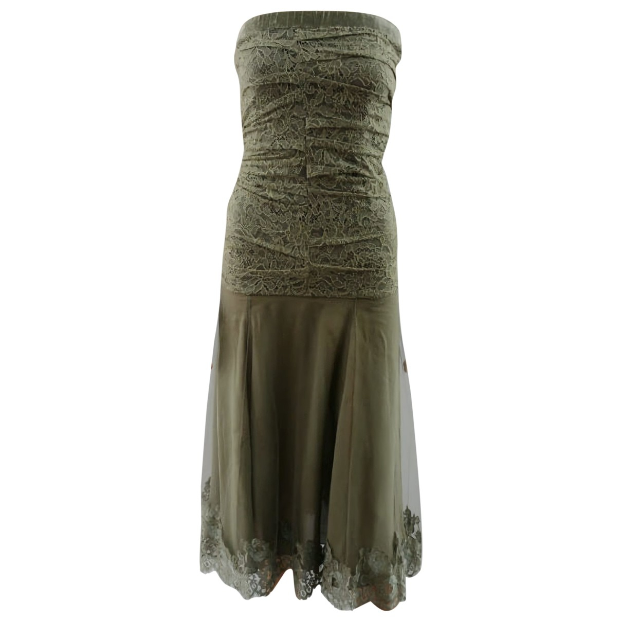Dior \N Khaki Silk dress for Women 36 FR