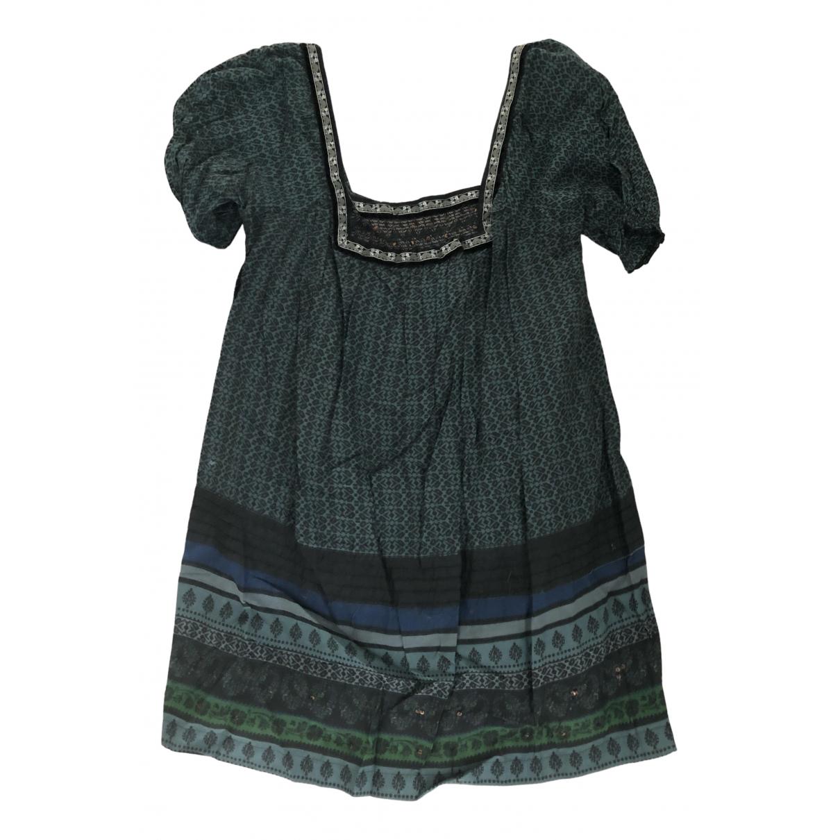 Zara \N Kleid in  Gruen Baumwolle