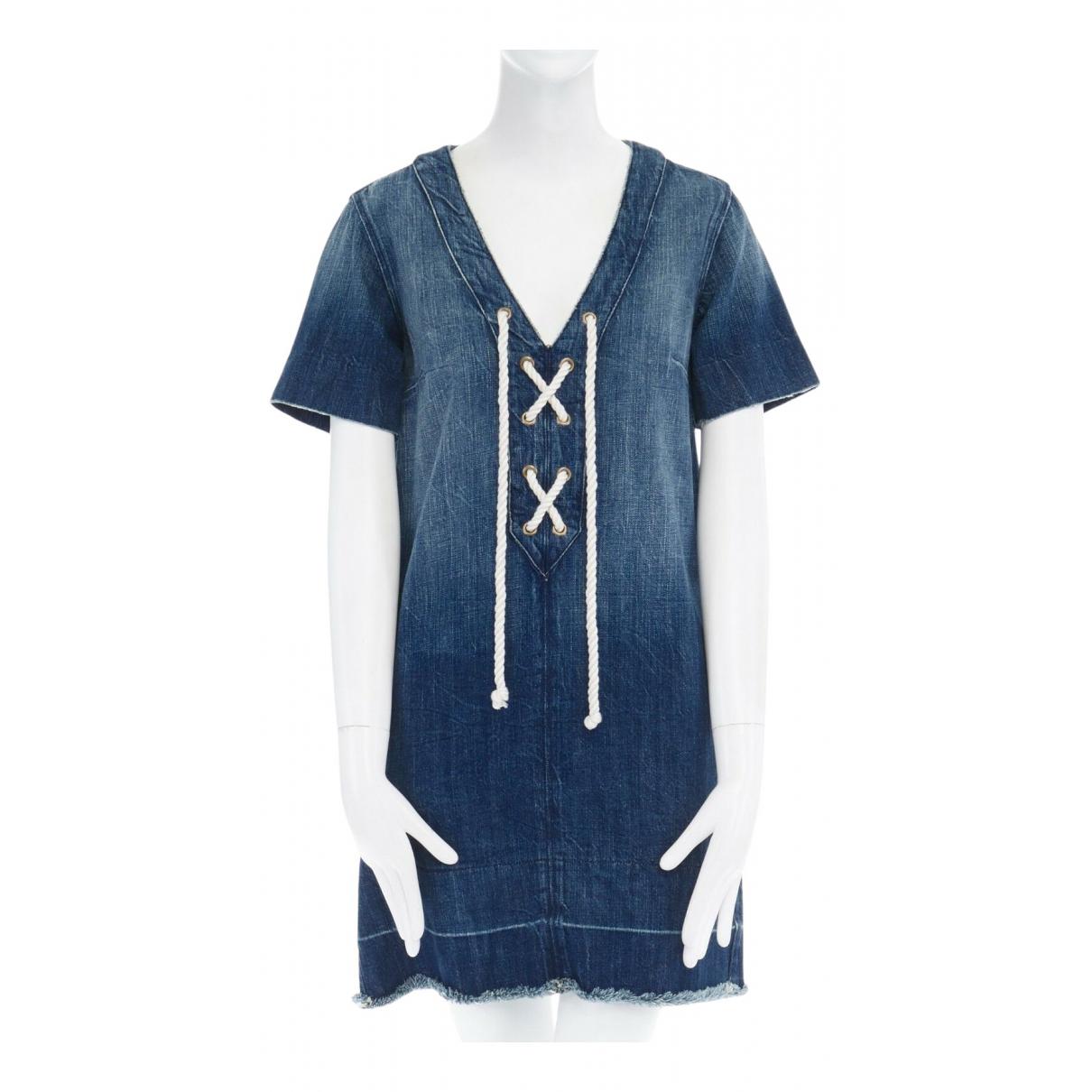 Current Elliott - Robe   pour femme en denim - bleu
