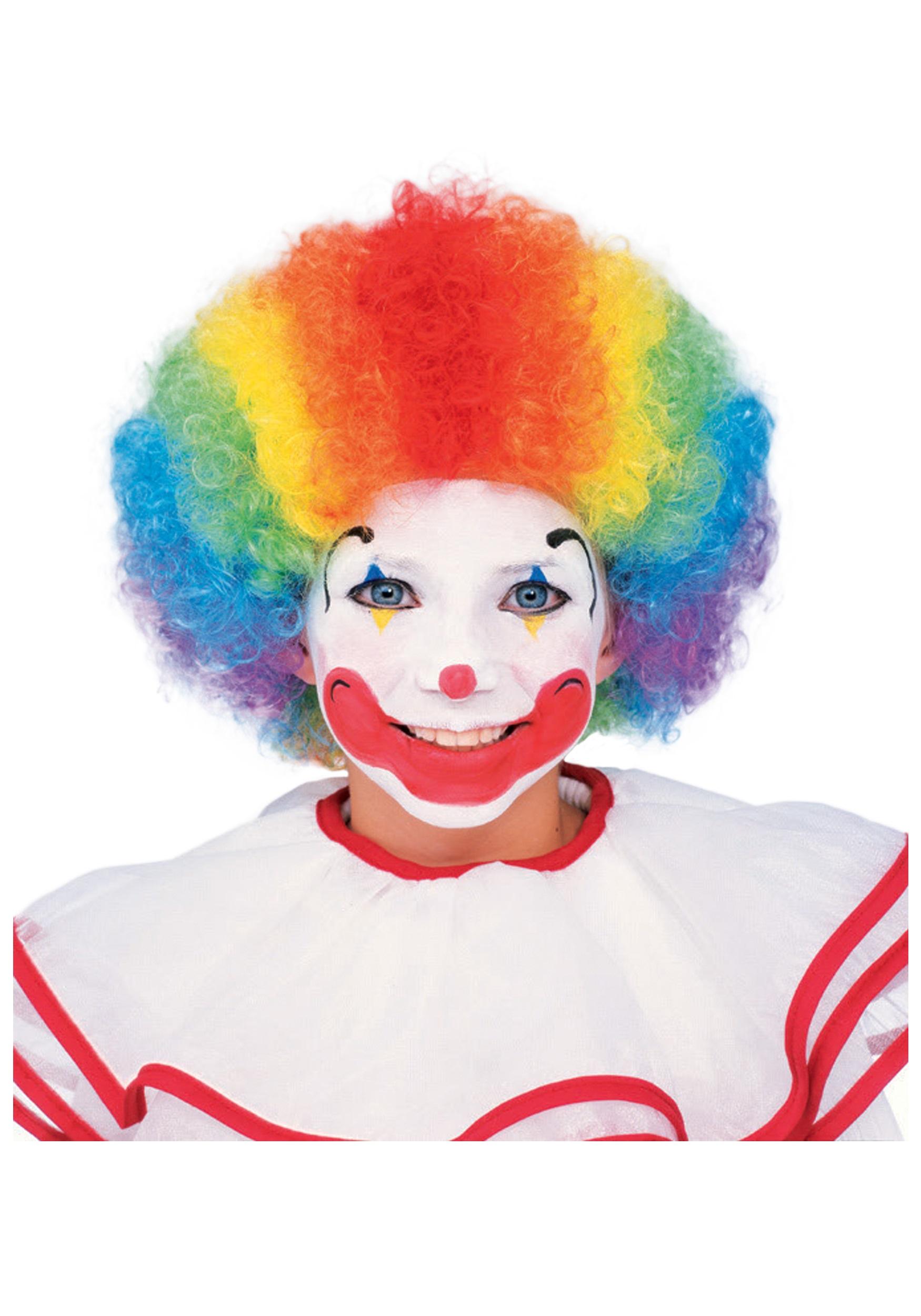 Kids Multi Color Clown Wig