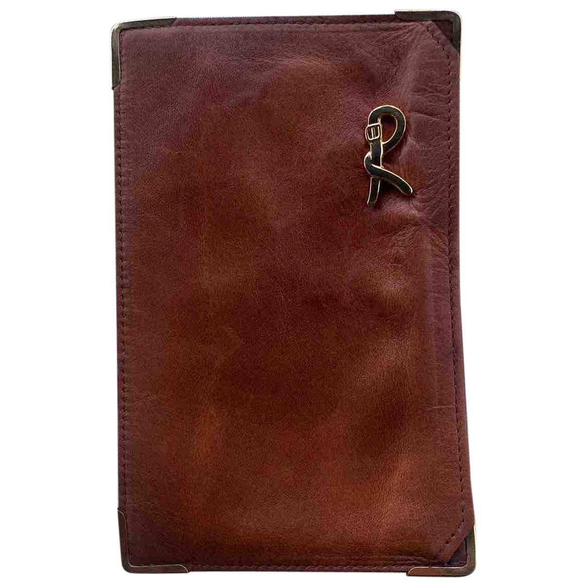 Non Signé / Unsigned N Brown Leather wallet for Women N