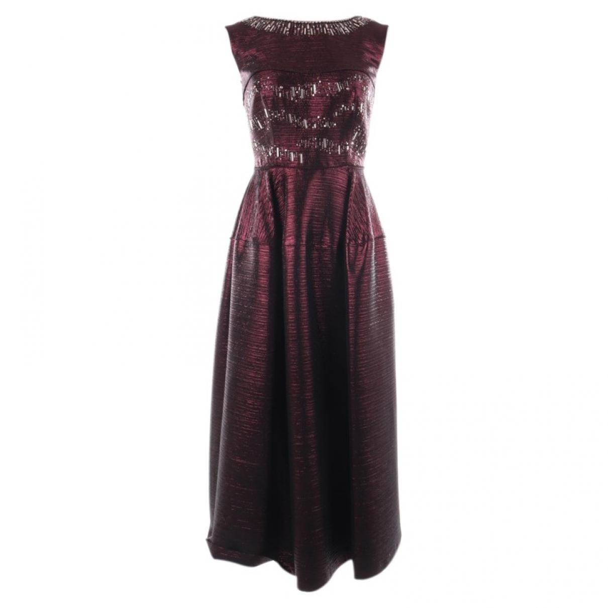 Talbot Runhof \N Kleid in  Rot Viskose