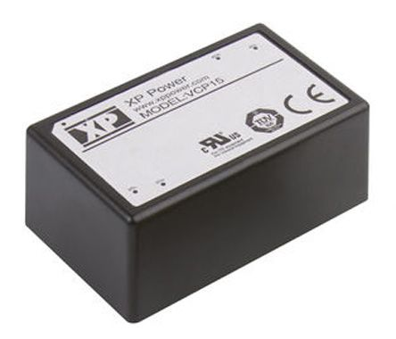 XP Power , 15W AC-DC Converter, 15V dc, Encapsulated, Medical Approved