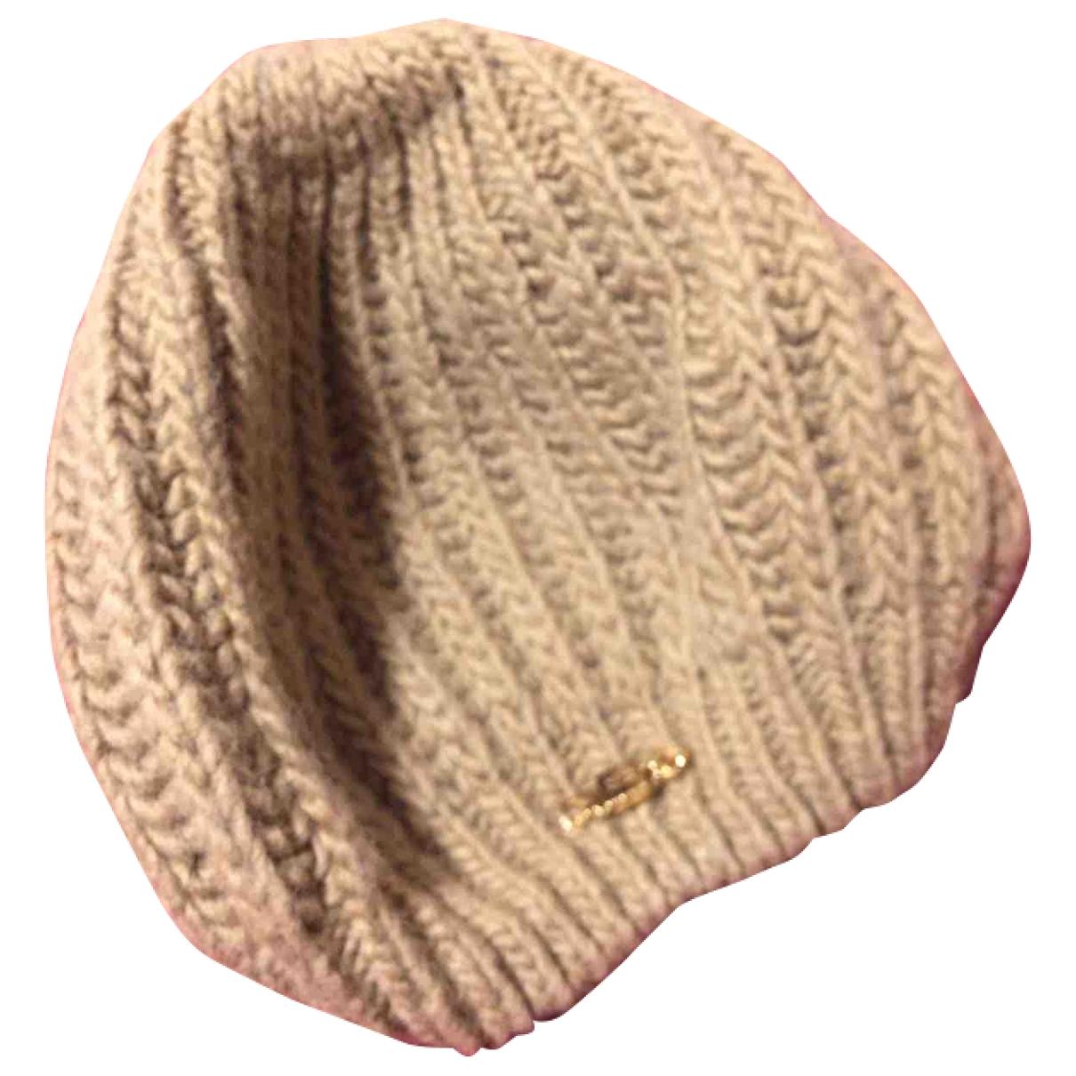 Elisabetta Franchi \N Beige Wool hat for Women 21.2 Inches