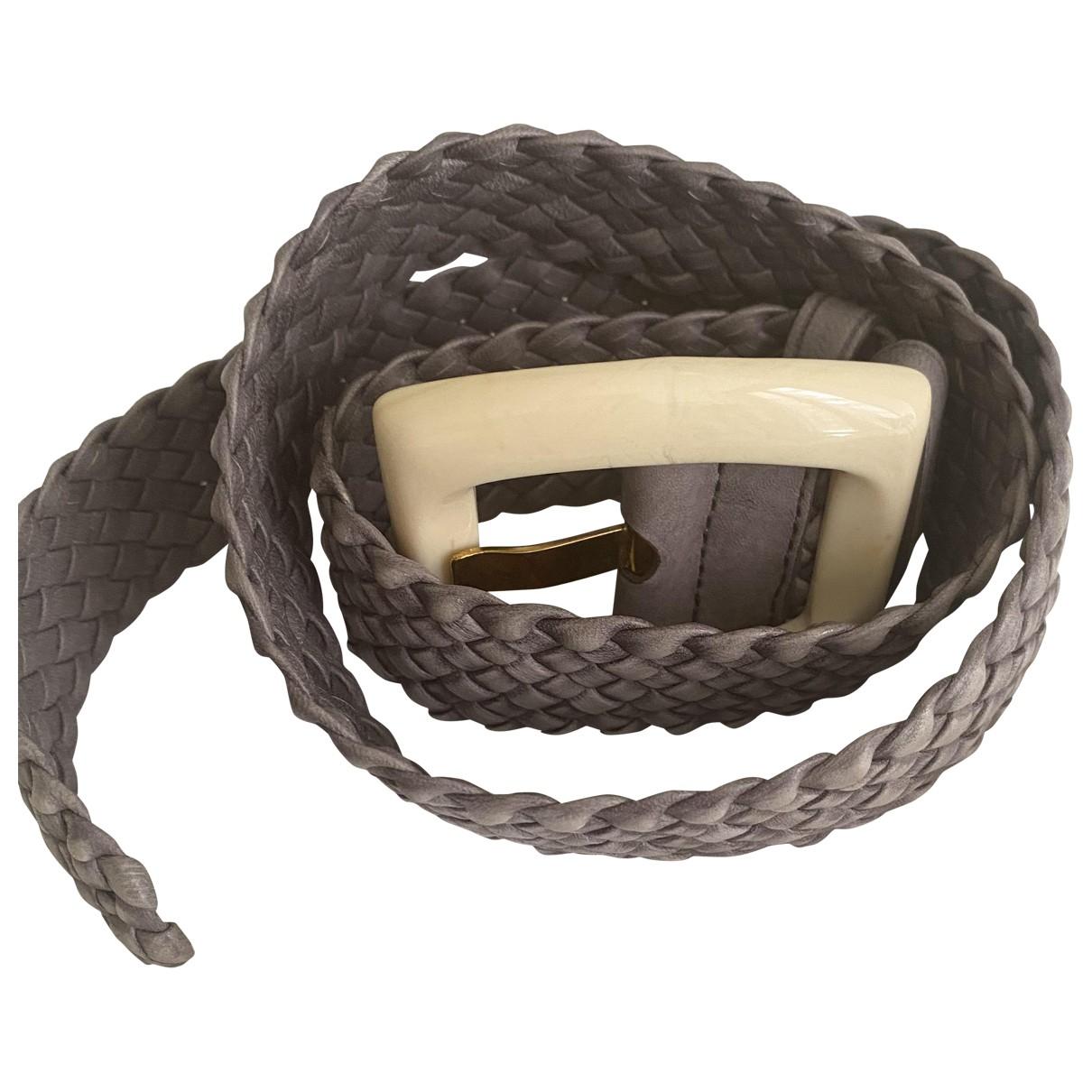 Prada \N Grey Leather belt for Women 75 cm