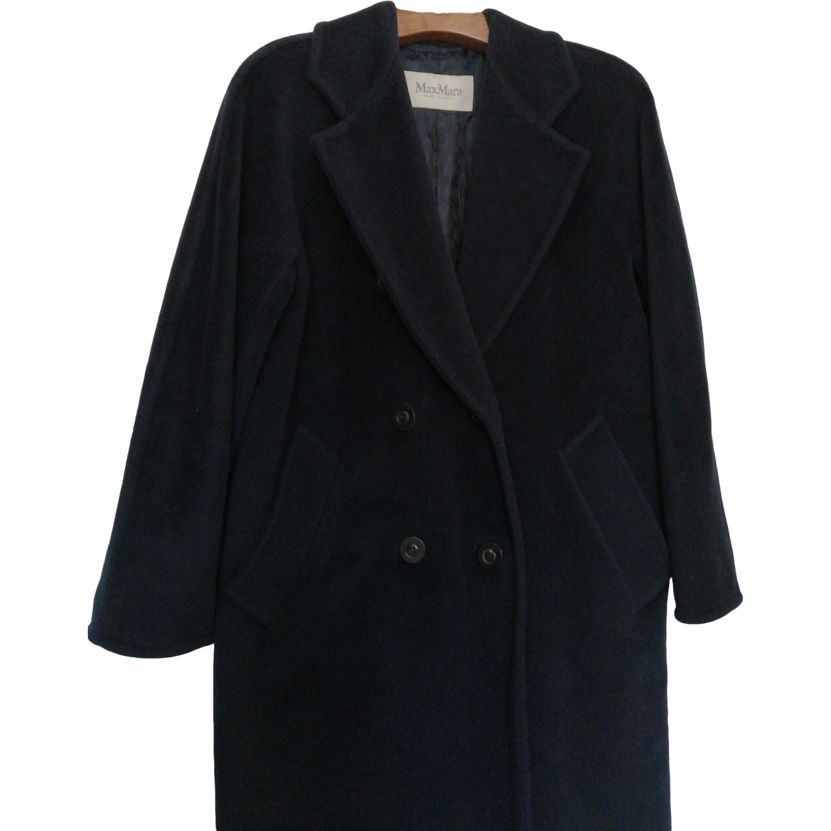 Max Mara \N Navy Wool coat for Women 32 FR