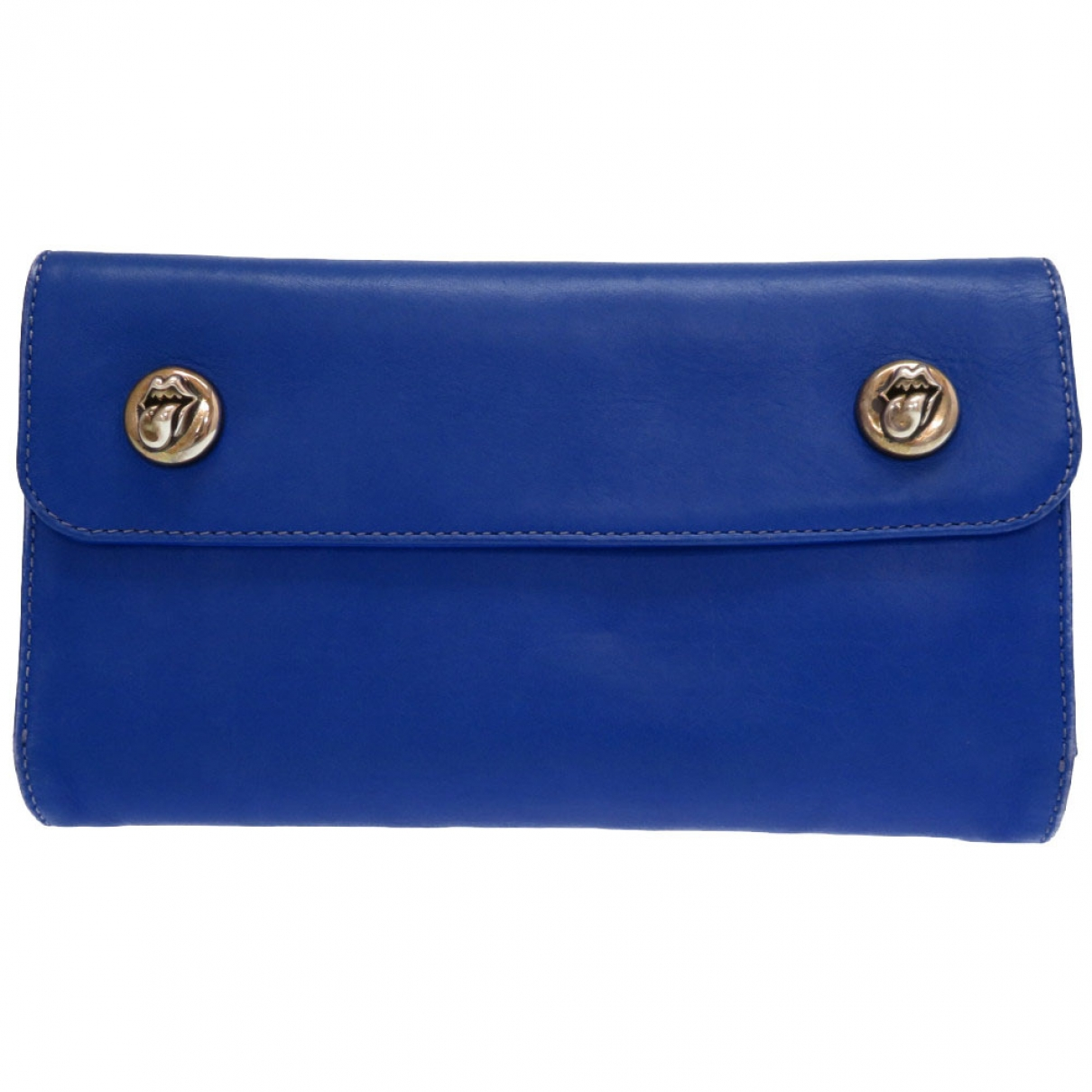 Chrome Hearts \N Blue Leather wallet for Women \N
