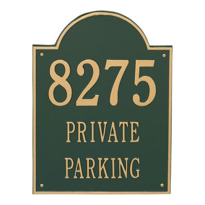 2502GG Extra Large Arch Plaque - Holds up to 3 Lines of Text in Green and Gold