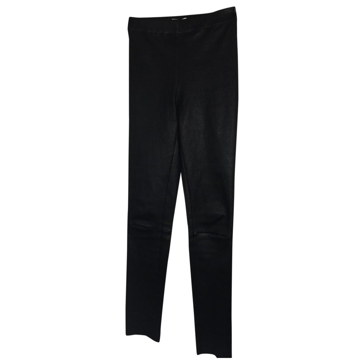 Zapa \N Black Leather Trousers for Women 36 FR