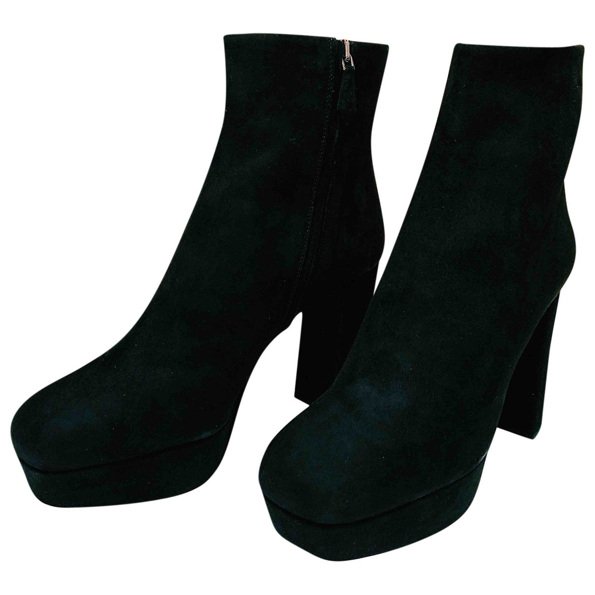 Miu Miu - Bottes   pour femme en suede - noir