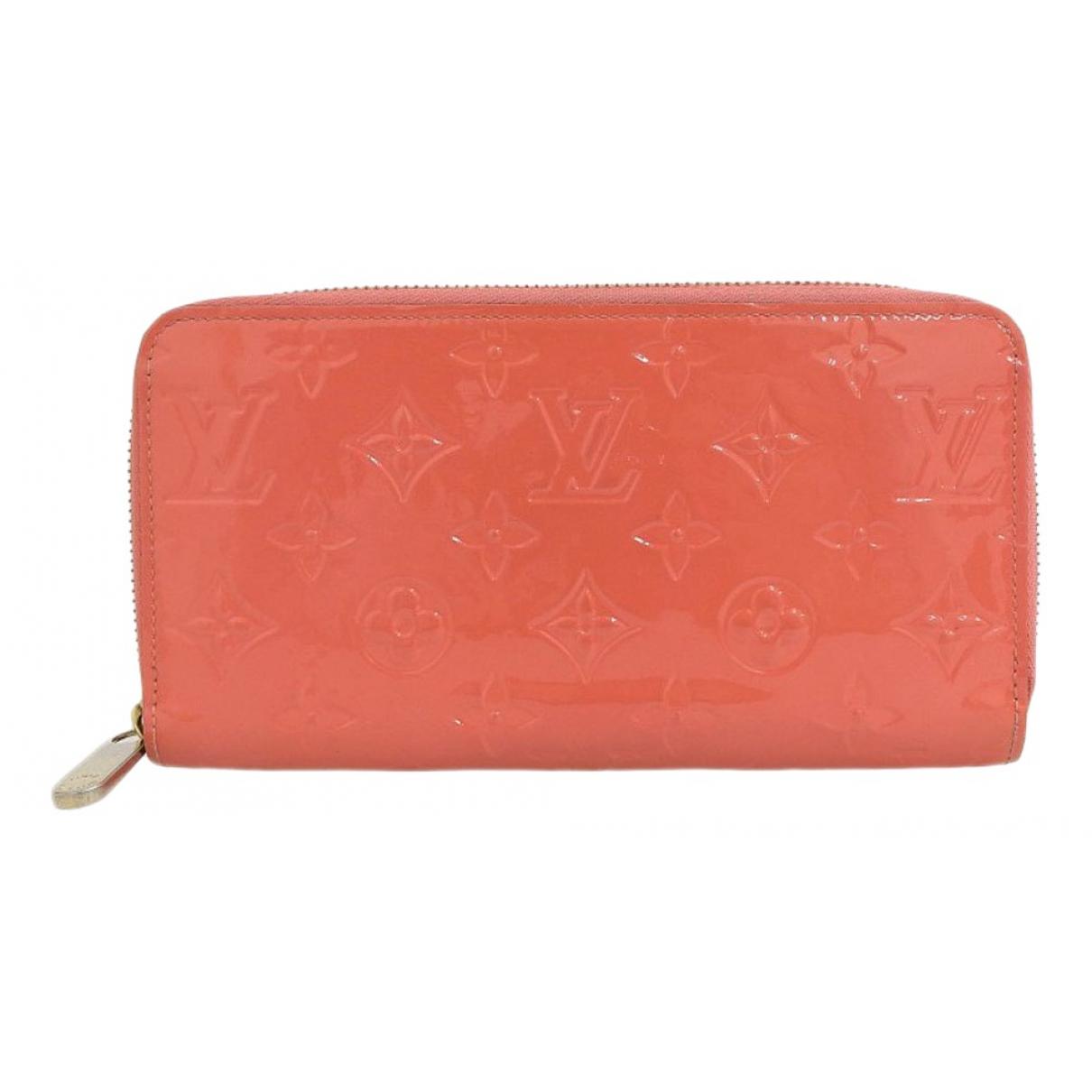 Louis Vuitton - Portefeuille Zippy pour femme en cuir verni - orange