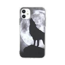 1pc Wolf Print iPhone Case