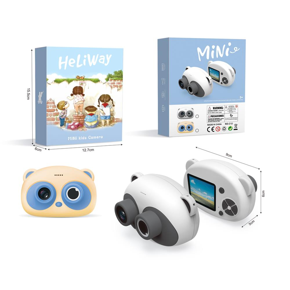 Heliway Cartoon Panda Digital Camera 1080P Normal Card Version Children Photograph Early Education Toys