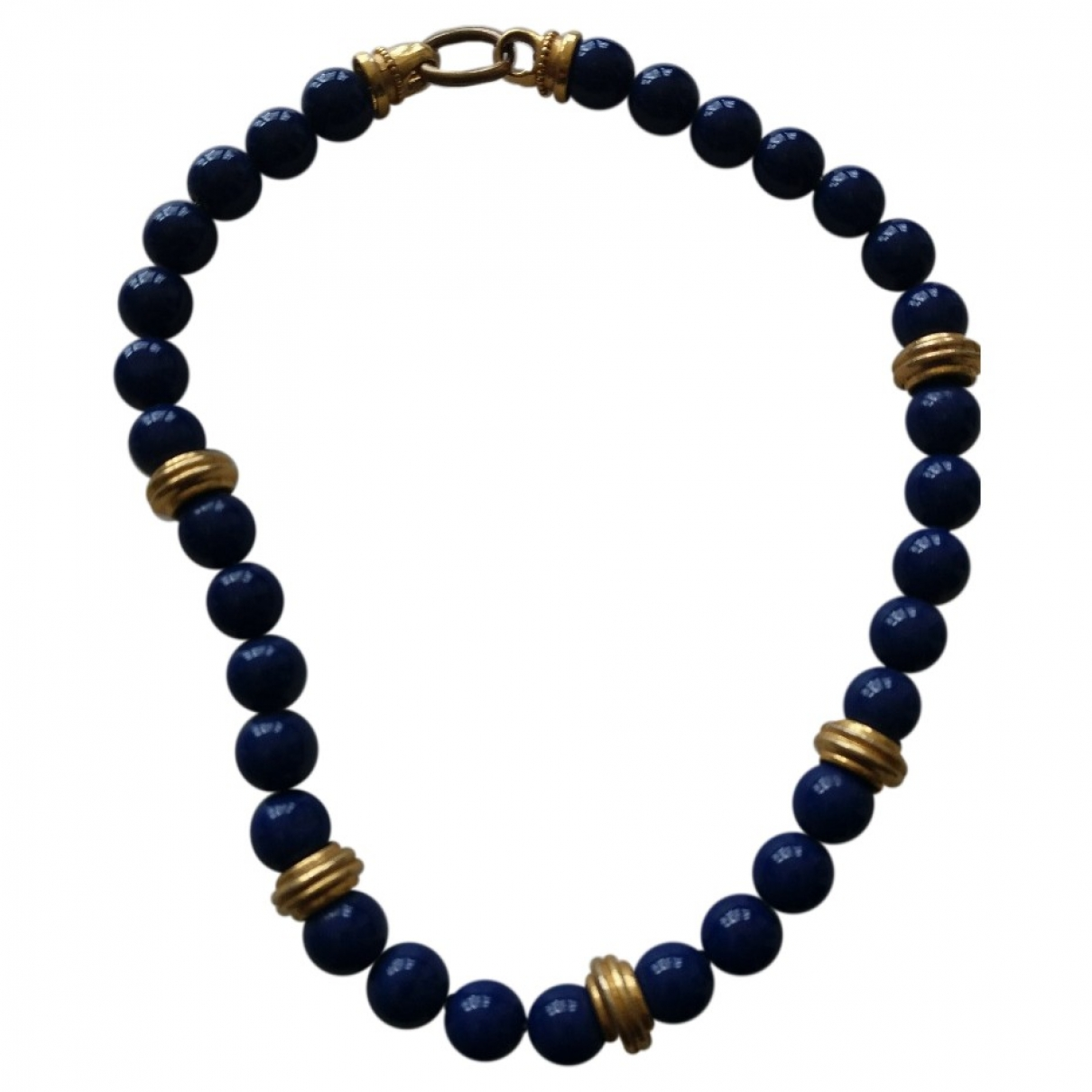 - Collier Motifs Ethniques pour femme en metal - bleu