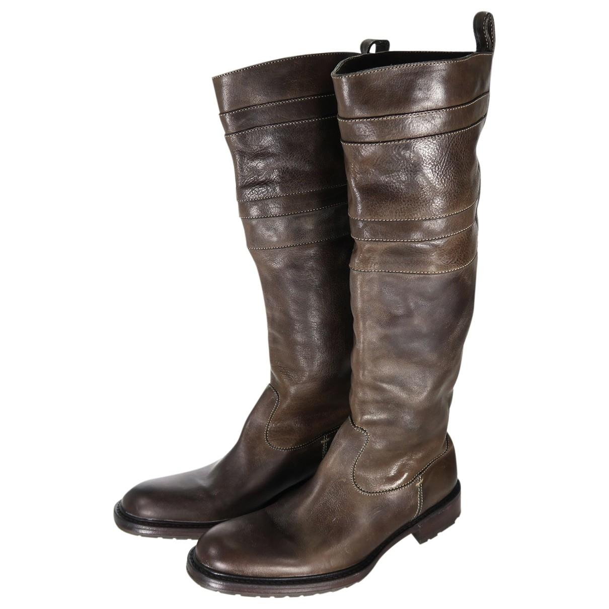 N.d.c. Made By Hand - Bottes   pour femme en cuir - marron