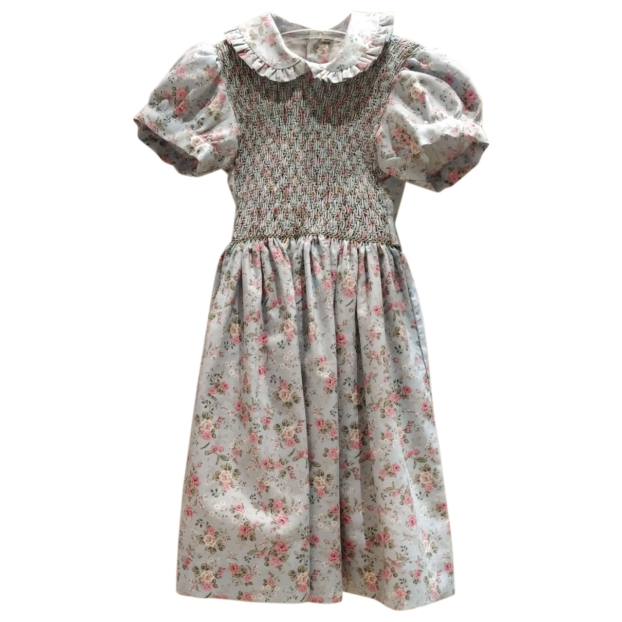 Non Signé / Unsigned \N Turquoise Cotton - elasthane dress for Kids 4 years - up to 102cm FR