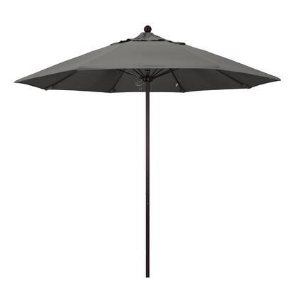 ALTO908117-54048 9' Venture Series Commercial Patio Umbrella With Bronze Aluminum Pole Fiberglass Ribs Push Lift With Sunbrella 1A Charcoal