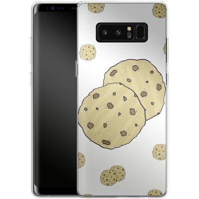 Samsung Galaxy Note 8 Silikon Handyhuelle - Cookies von caseable Designs