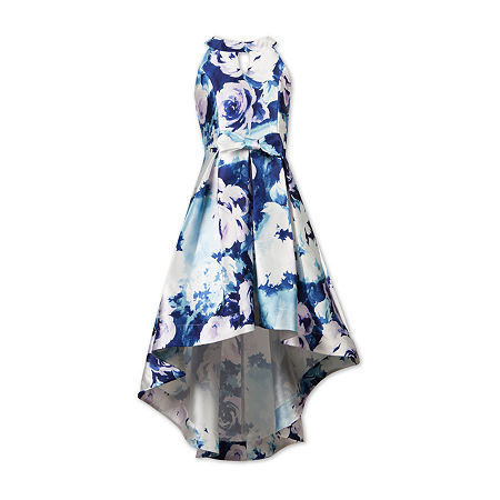 Speechless Big Girls Sleeveless High-Low Party Dress, 10 , Blue