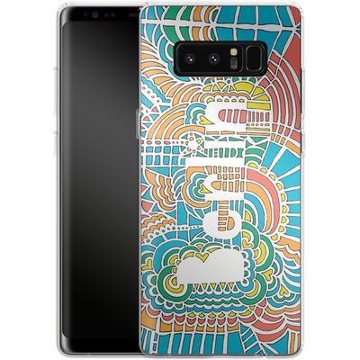 Samsung Galaxy Note 8 Silikon Handyhuelle - Berlin Blue von Kaitlyn Parker