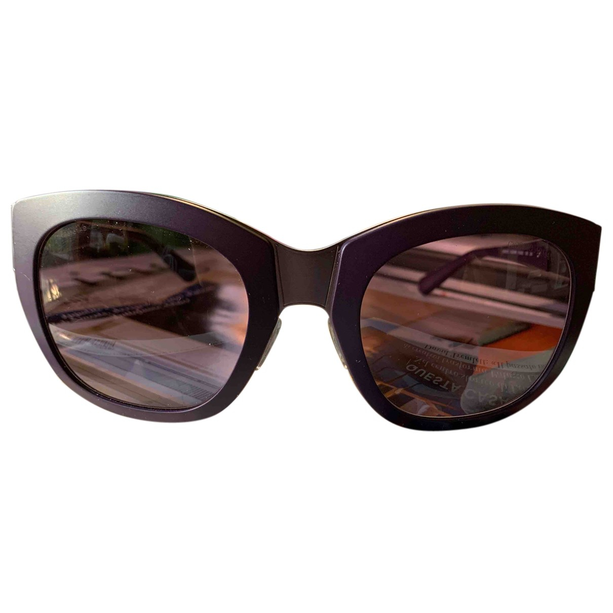 Giorgio Armani N Purple Metal Sunglasses for Women N