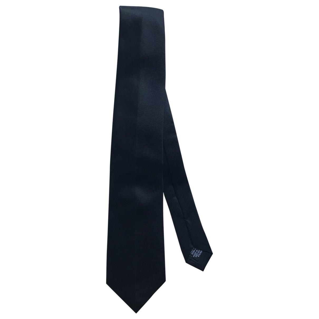 Boss \N Krawatten in  Schwarz Seide