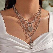 2 Stuecke Schluessel Schlange Charm Chain Halskette