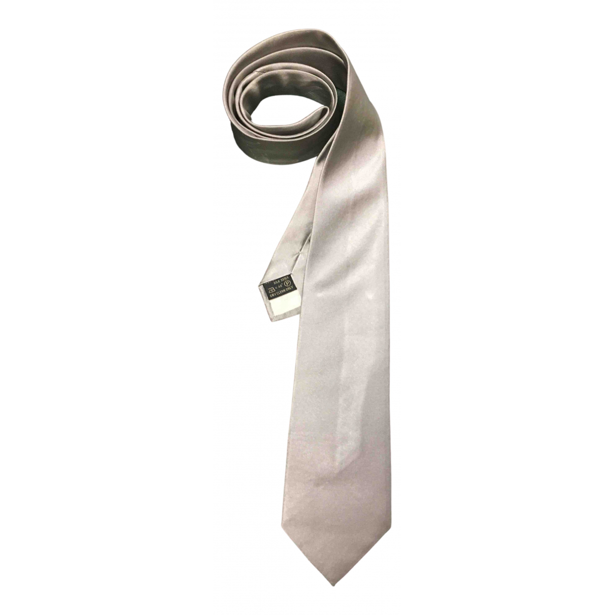 Givenchy \N Krawatten in  Grau Seide