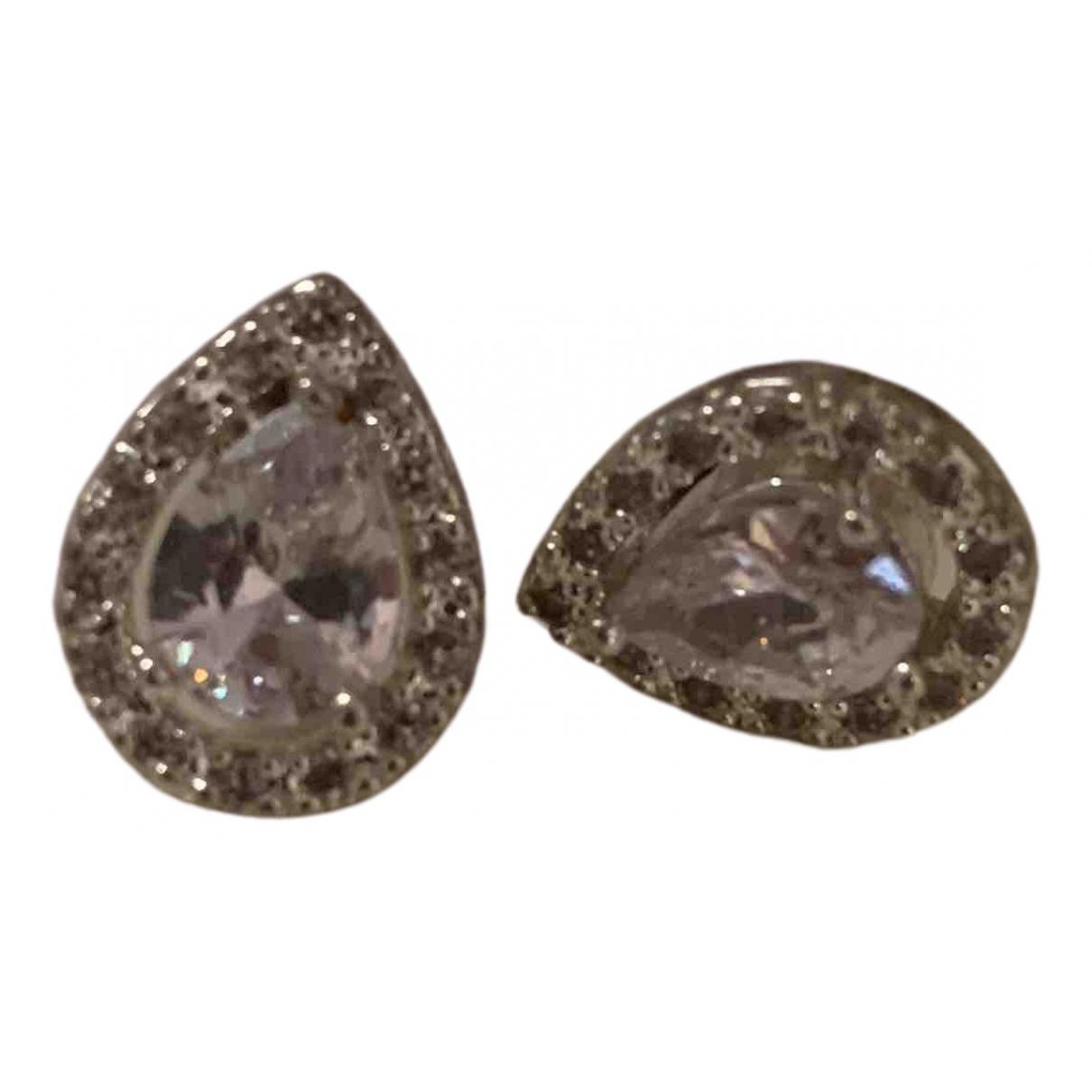 - Boucles d'oreilles   pour femme en metal - argente