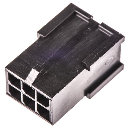 TE Connectivity , Micro MATE-N-LOK Male Connector Housing, 3mm Pitch, 6 Way, 2 Row (5)