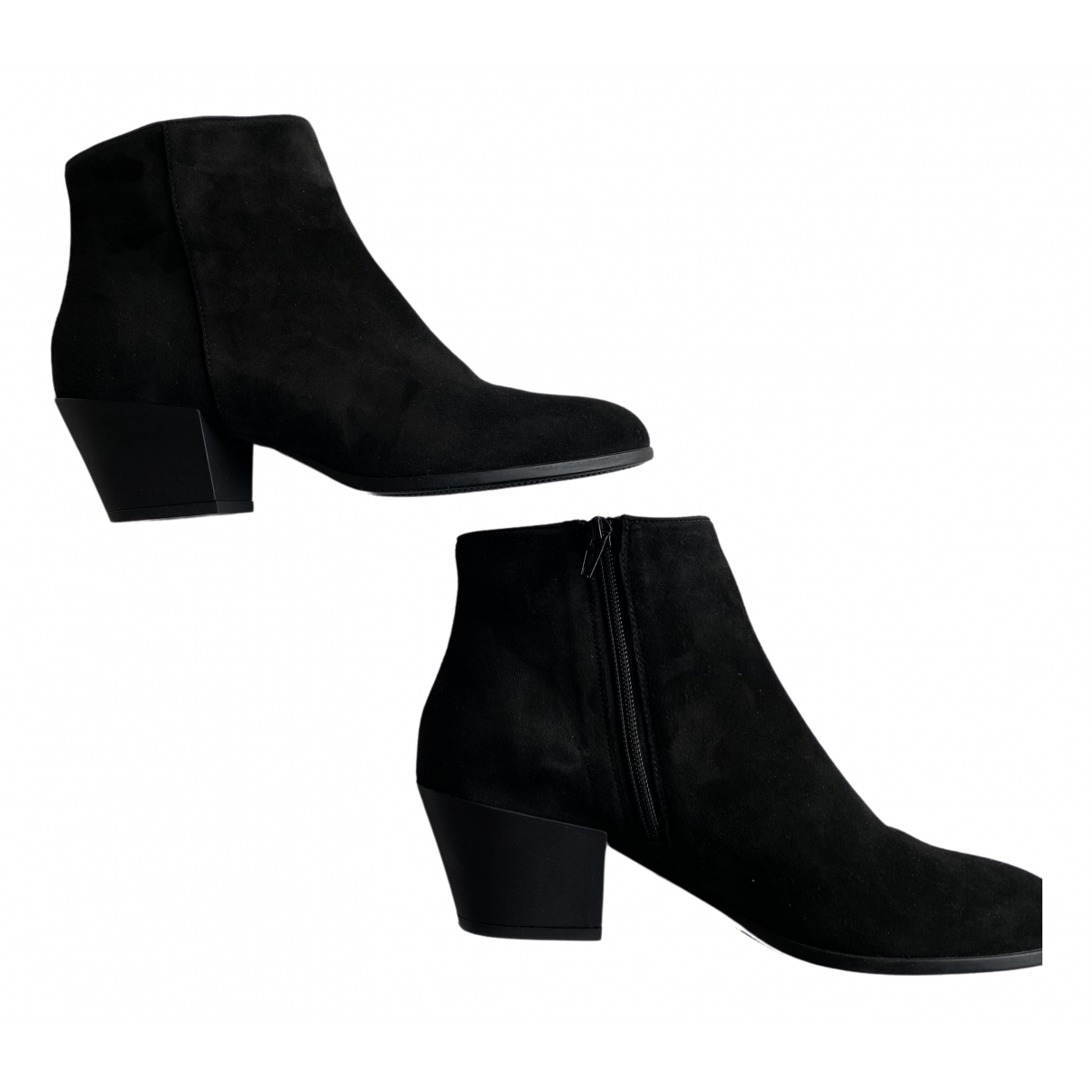 Hogan \N Black Suede Ankle boots for Women 40 EU