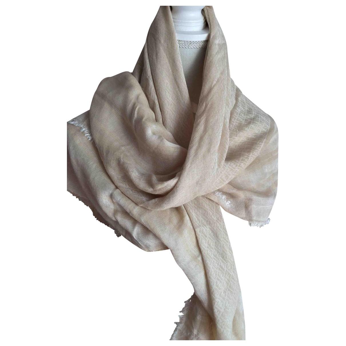 Fendi \N Beige Cotton scarf for Women \N