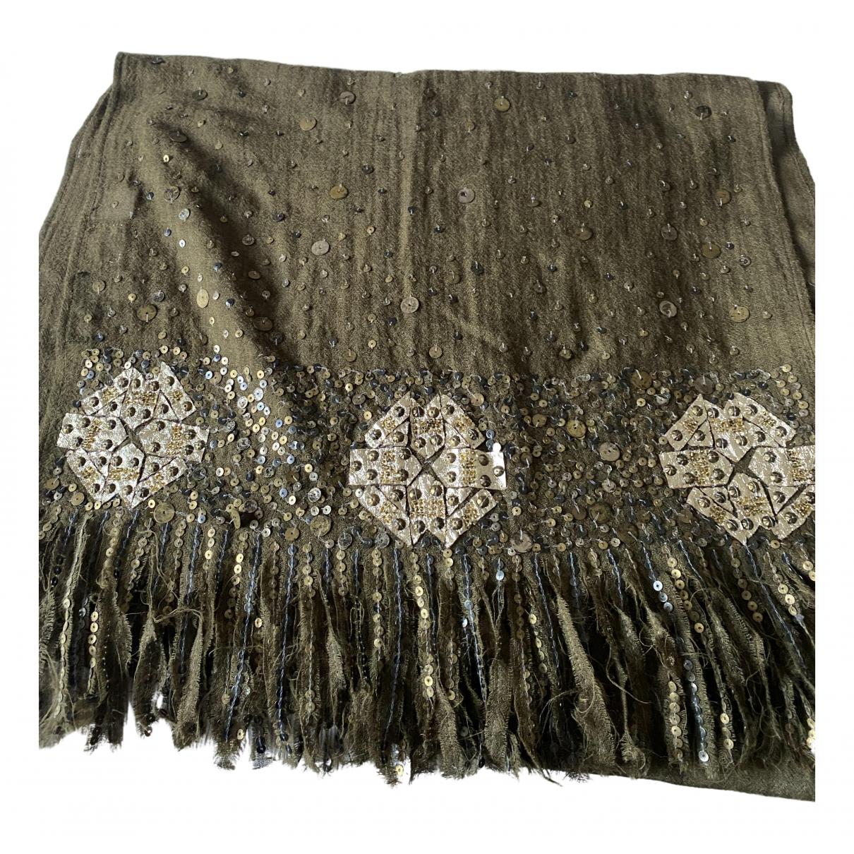 Antik Batik - Foulard   pour femme en laine - kaki