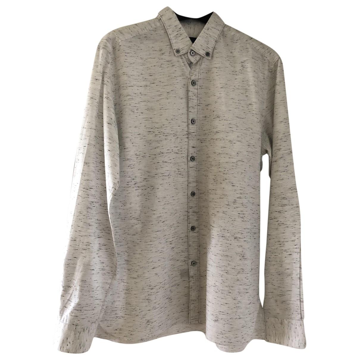 Lanvin \N White Cotton Shirts for Men 40 EU (tour de cou / collar)
