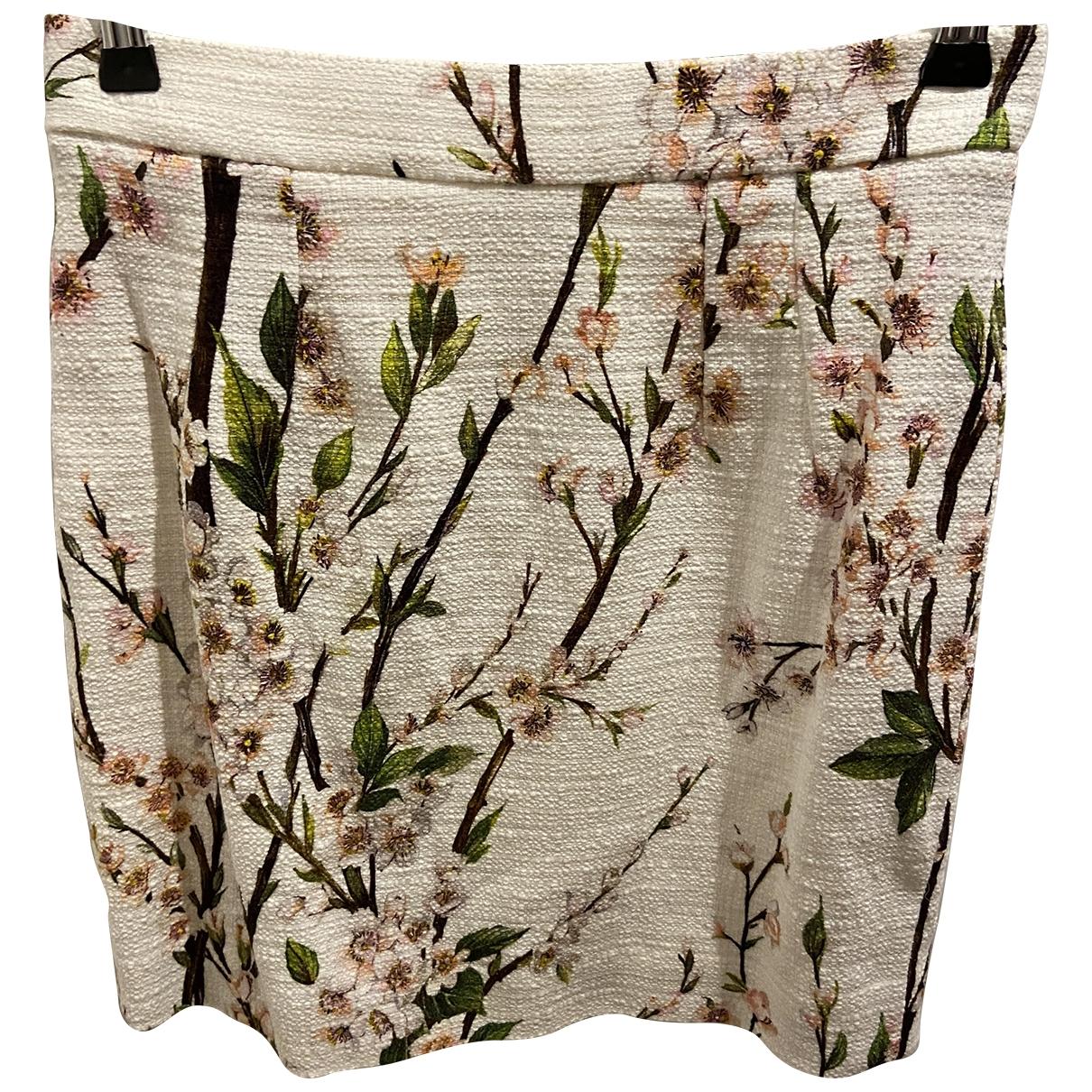 Dolce & Gabbana \N White Tweed skirt for Women 40 IT
