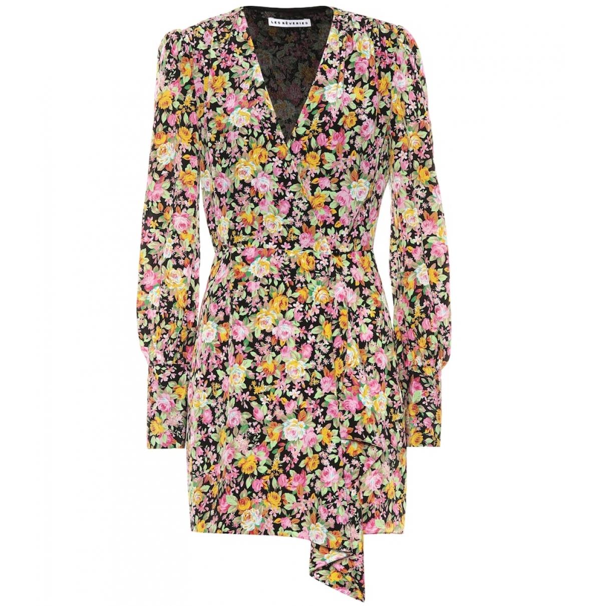 Les Reveries - Robe   pour femme en soie - multicolore