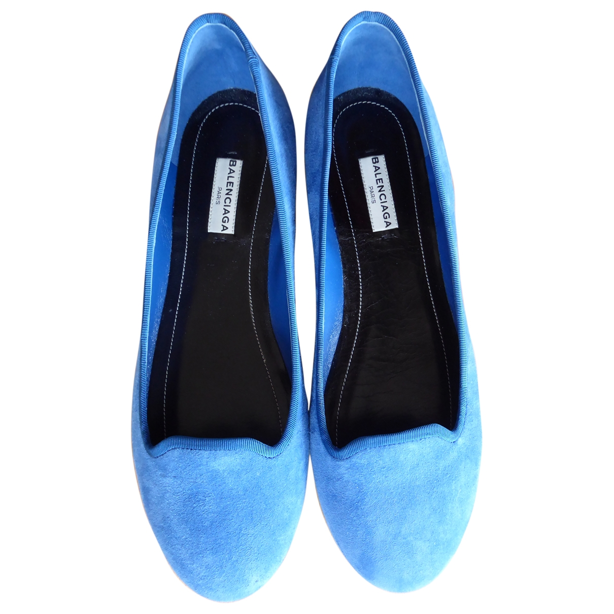 Balenciaga - Ballerines   pour femme en suede - turquoise