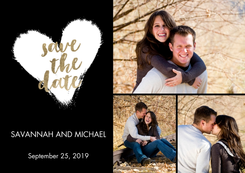 Save the Date 5x7 Postcards, Card & Stationery -Save the Date Heart Overlay