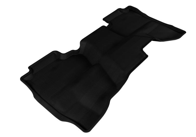 3D MAXpider 2014-2019 Chevrolet/GMC Silverado Double Cab Kagu 2nd Row Floormats - Black