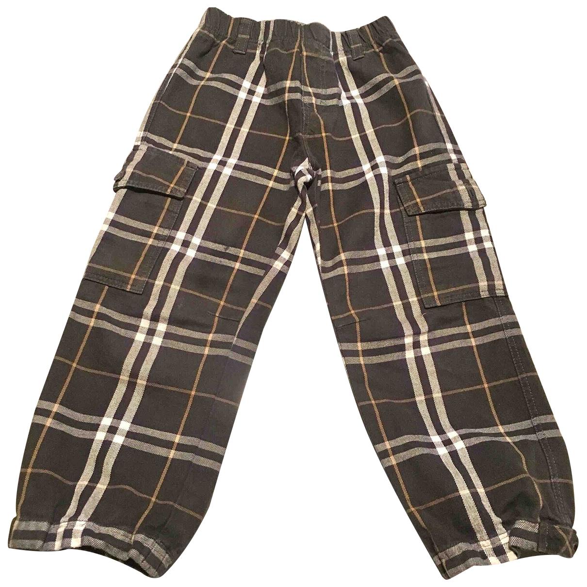 Burberry - Pantalon   pour enfant en coton - vert