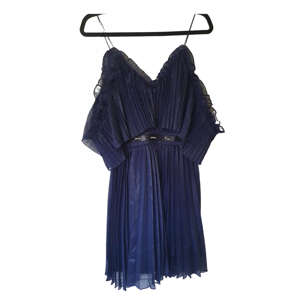La Maison Talulah \N Kleid in  Blau Viskose