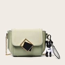 Mini Stitch Trim Flap Crossbody Bag