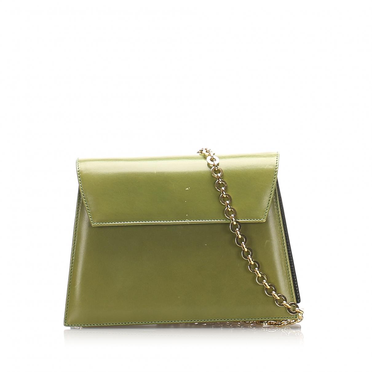 Salvatore Ferragamo \N Handtasche in  Gruen Leder