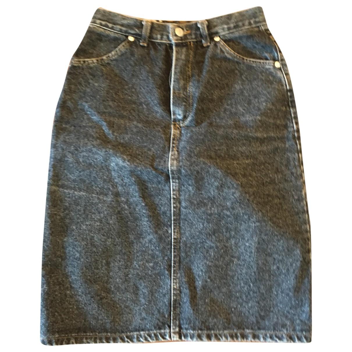 Non Signe / Unsigned \N Rocke in  Schwarz Denim - Jeans