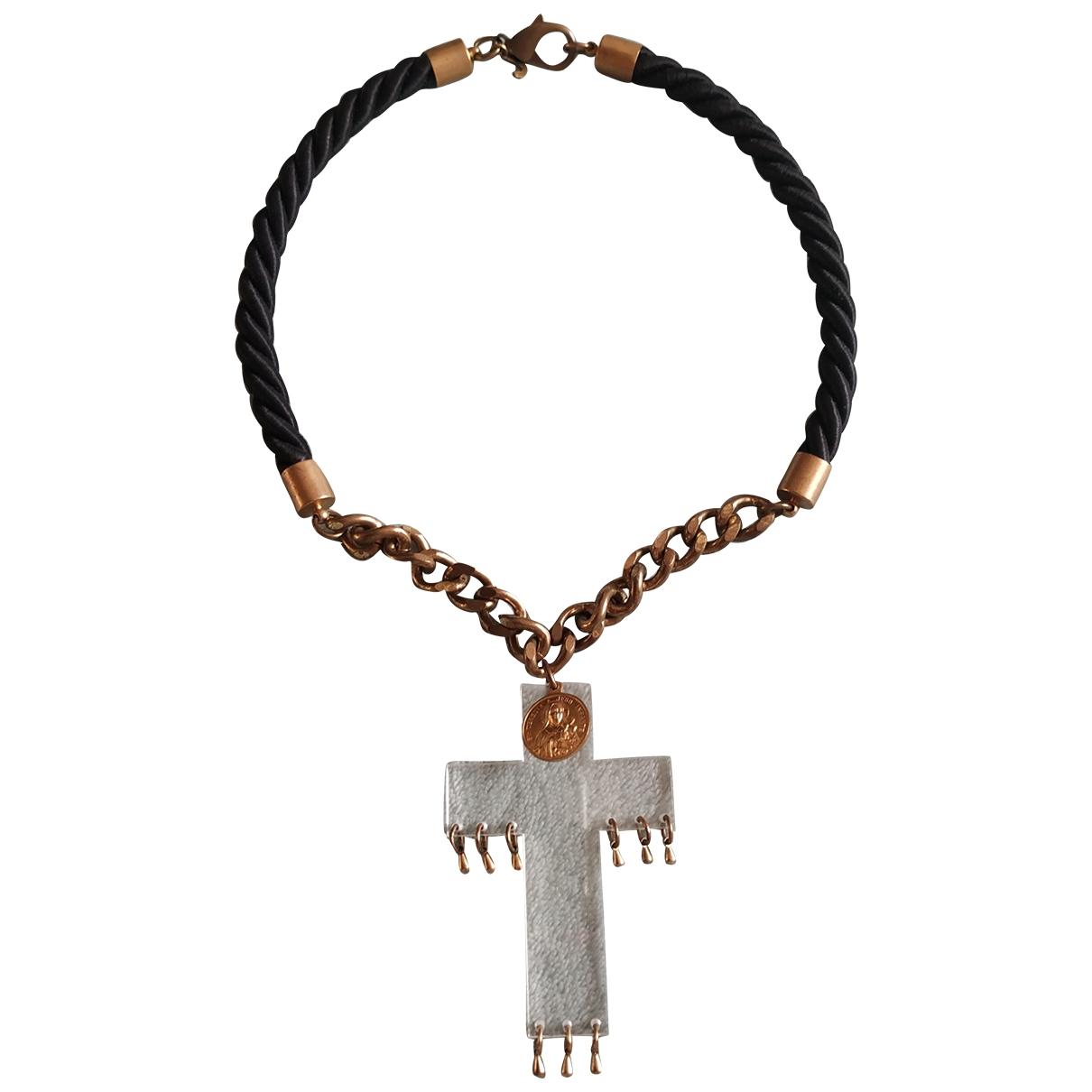 Justine Clenquet \N Black Metal necklace for Women \N