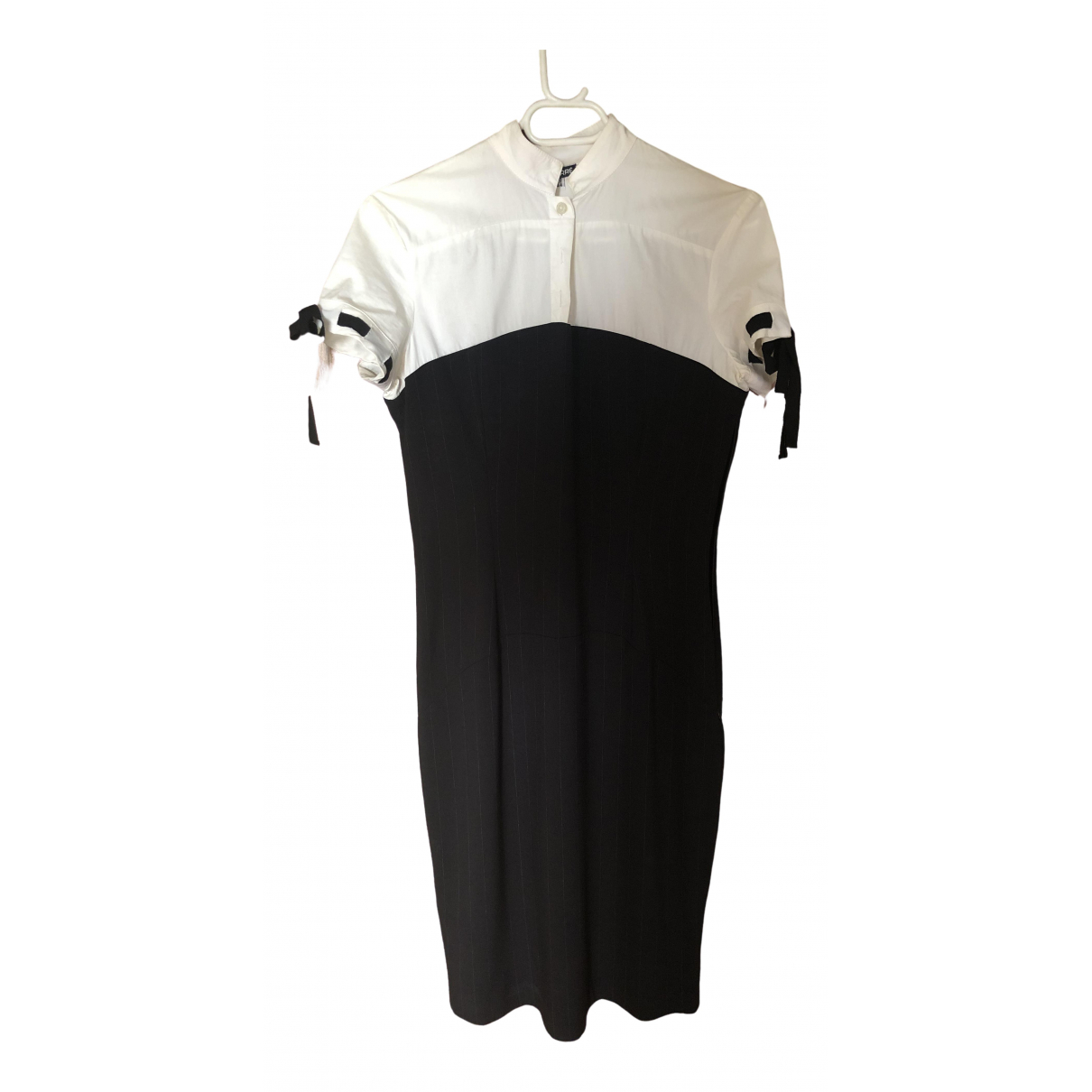 Gianfranco Ferre \N Kleid in  Schwarz Baumwolle