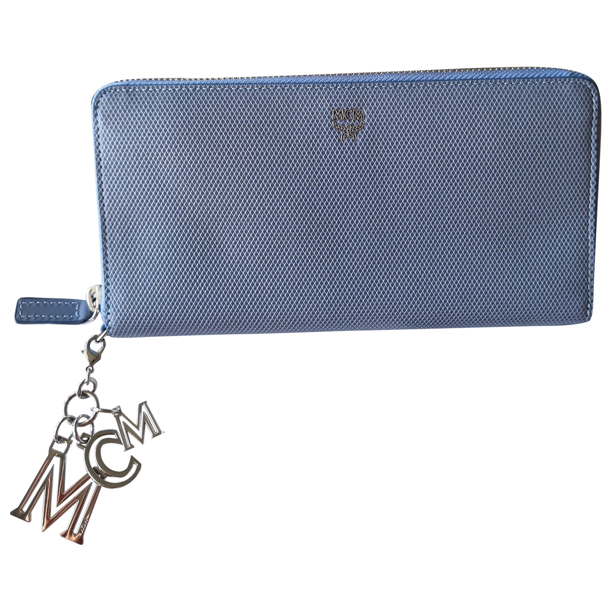 Mcm \N Blue Leather Purses, wallet & cases for Women \N