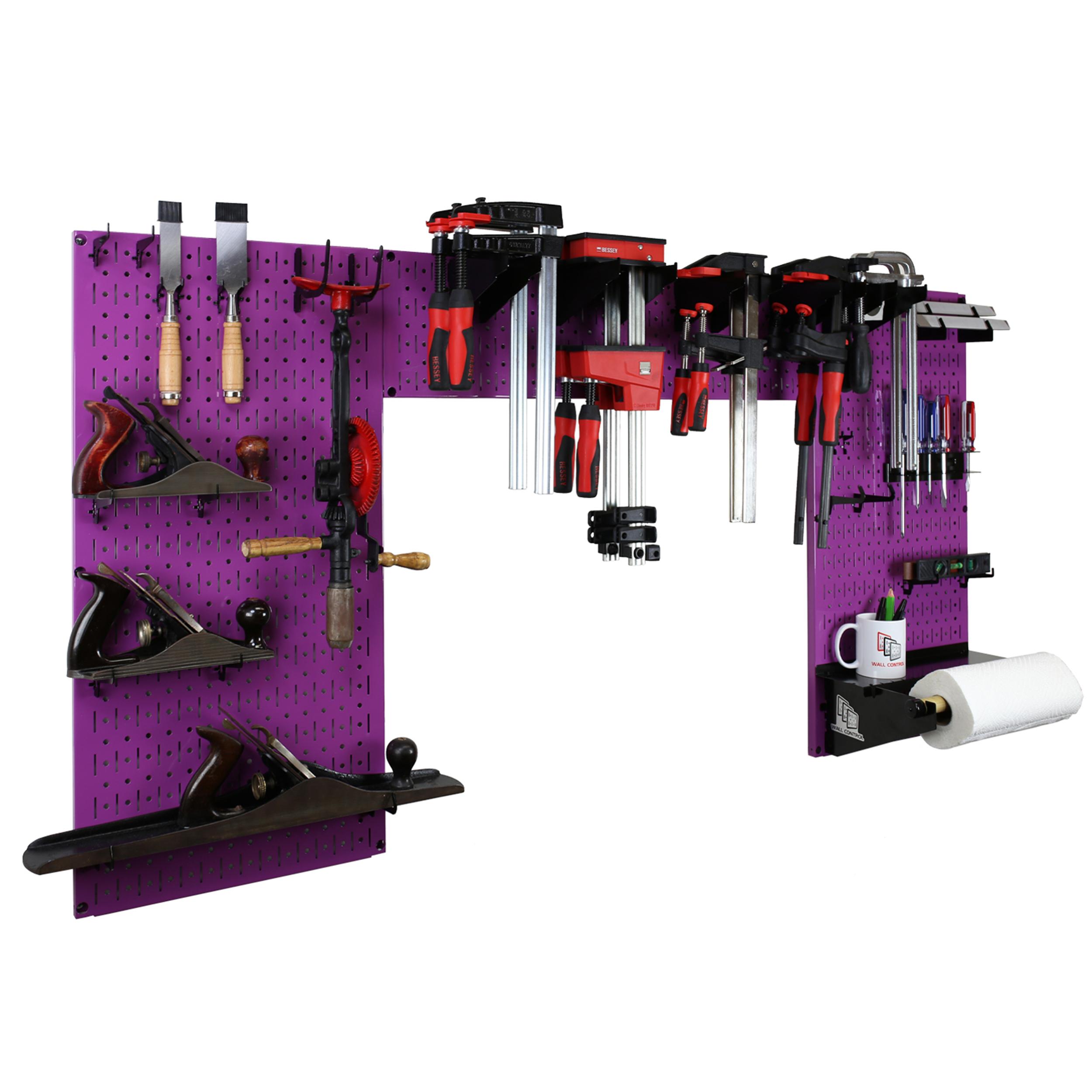 Lazy Guy DIY Maker Woodworking Tool Storage Organizer Set, Purple