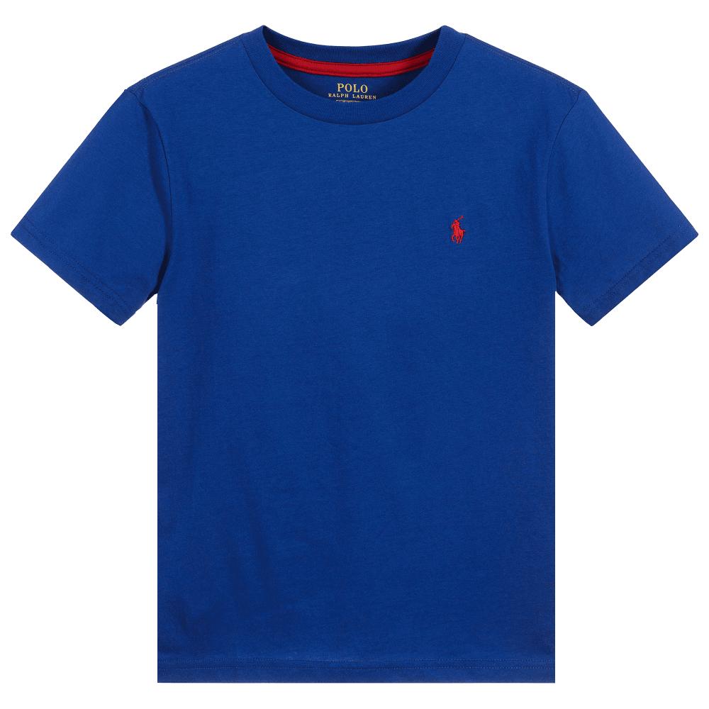 Ralph Lauren Kids Logo T-Shirt Blue Colour: BLUE, Size: 8 YEARS