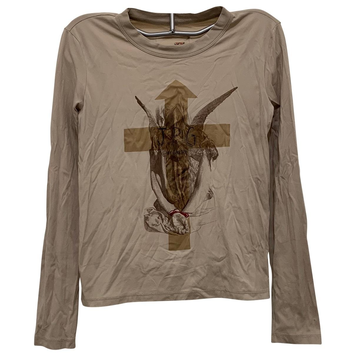 Jean Paul Gaultier \N Beige Cotton  top for Women M International